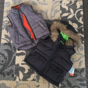 Two toddler vests